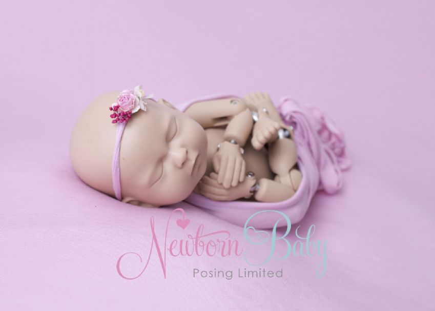 Pink Backdrop Photography  | Newborn Baby Posing